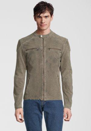 ARDEN - Leather jacket - stone