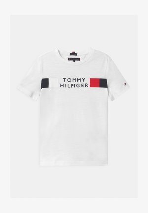 GLOBAL STRIPE - T-shirt med print - white
