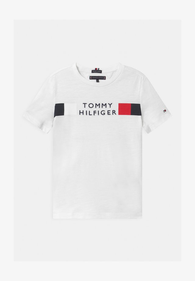 GLOBAL STRIPE - T-shirt imprimé - white
