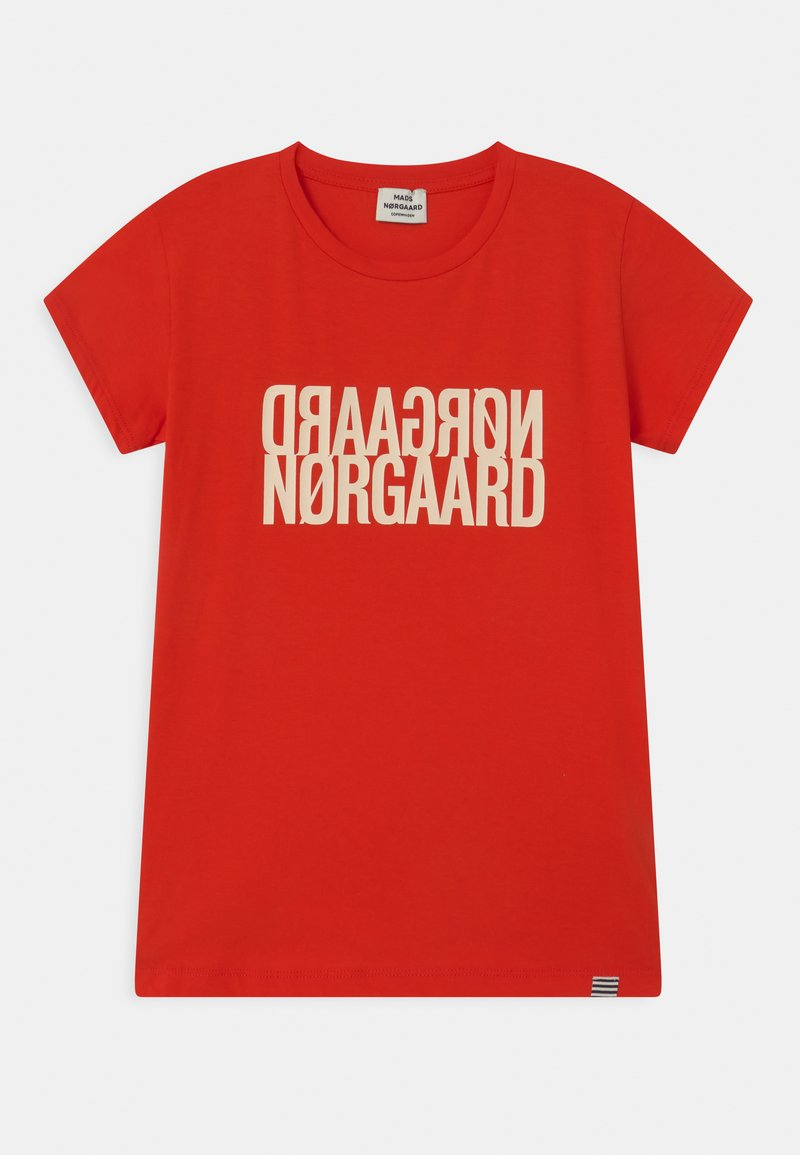 Mads Nørgaard - TUVINA UNISEX - T-shirts print - fiery red