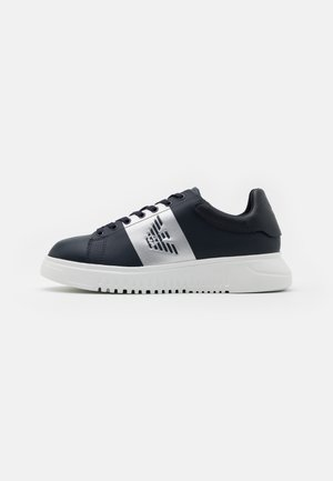 Trainers - blue navy/silver