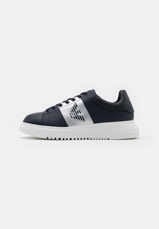 Sneakers - blue navy/silver
