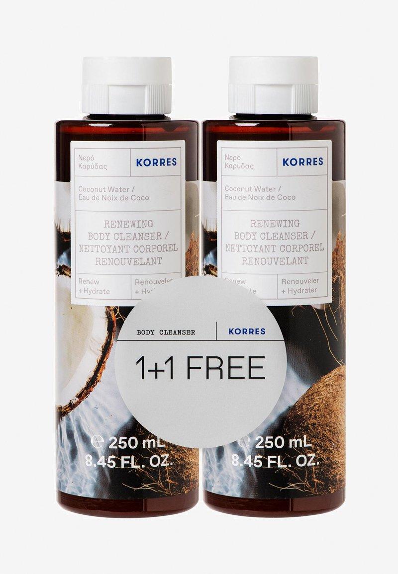 Korres - COCONUT WATER 1+1 SHOWER GEL SET - Bad- & bodyset - -