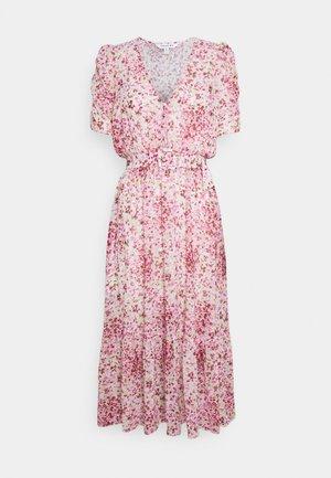 FREYA GATHER SLEEVE MIDI DRESS - Day dress - pink