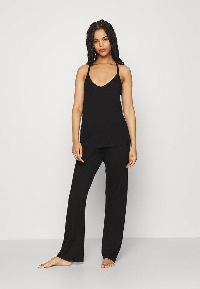 ONLKALA SOLID STRAP NIGHTWEAR SET - Pyjama - black