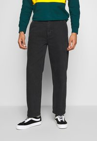 Obey Clothing - HARD WORK CARPENTER - Džíny Relaxed Fit - dusty black - 0