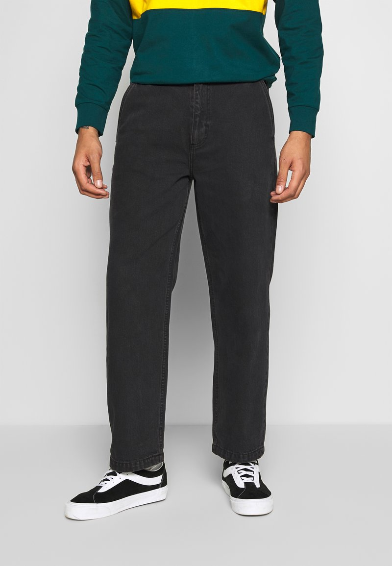 Obey Clothing - HARD WORK CARPENTER - Džíny Relaxed Fit - dusty black