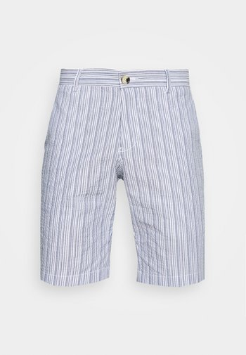 SEERSUCKER - Shorts - indigo
