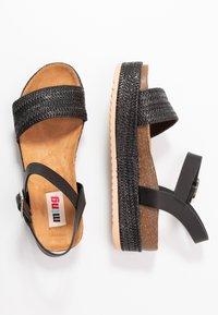 mtng - PERLA - Platform sandals - black - 3