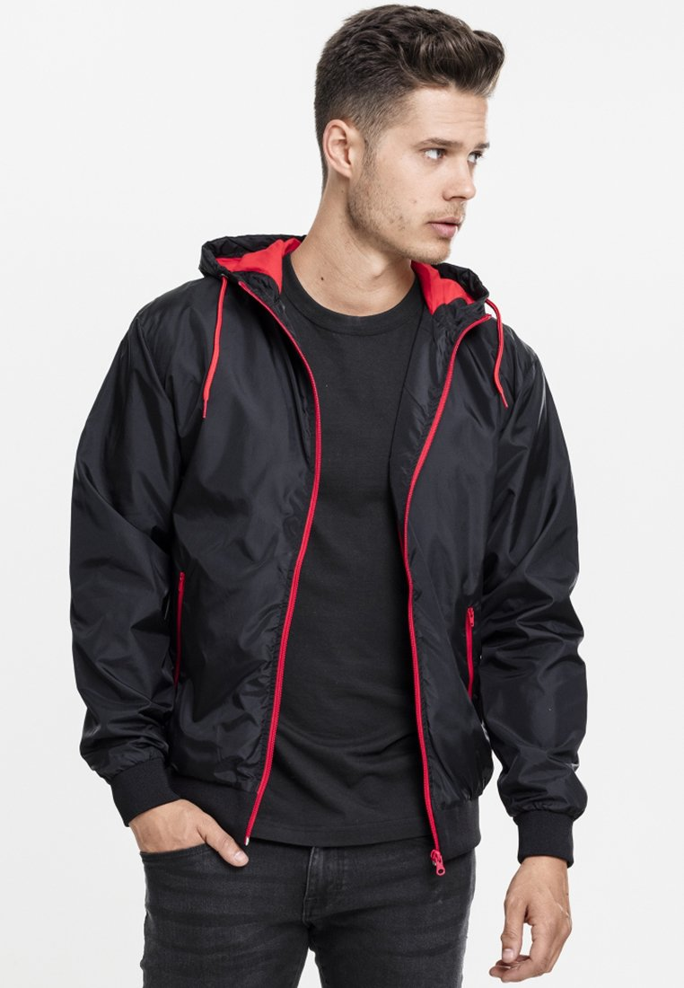 Urban Classics - Light jacket - black/red