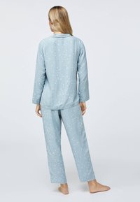 OYSHO - STAR SHIRT - Pyjama top - light blue - 2