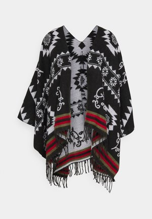 PONCHO FREEDOM REVERSIBLE - Cape - black