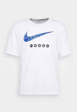 MILER TOP EKIDEN - T-shirts print - white/black