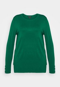 Dorothy Perkins Curve - FOREST CUFF CREW NECK JUMPER - Pullover - green - 0