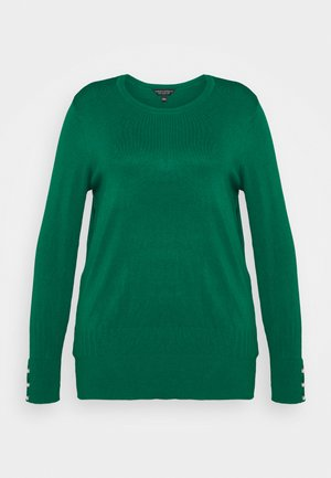 FOREST CUFF CREW NECK JUMPER - Jumper - green