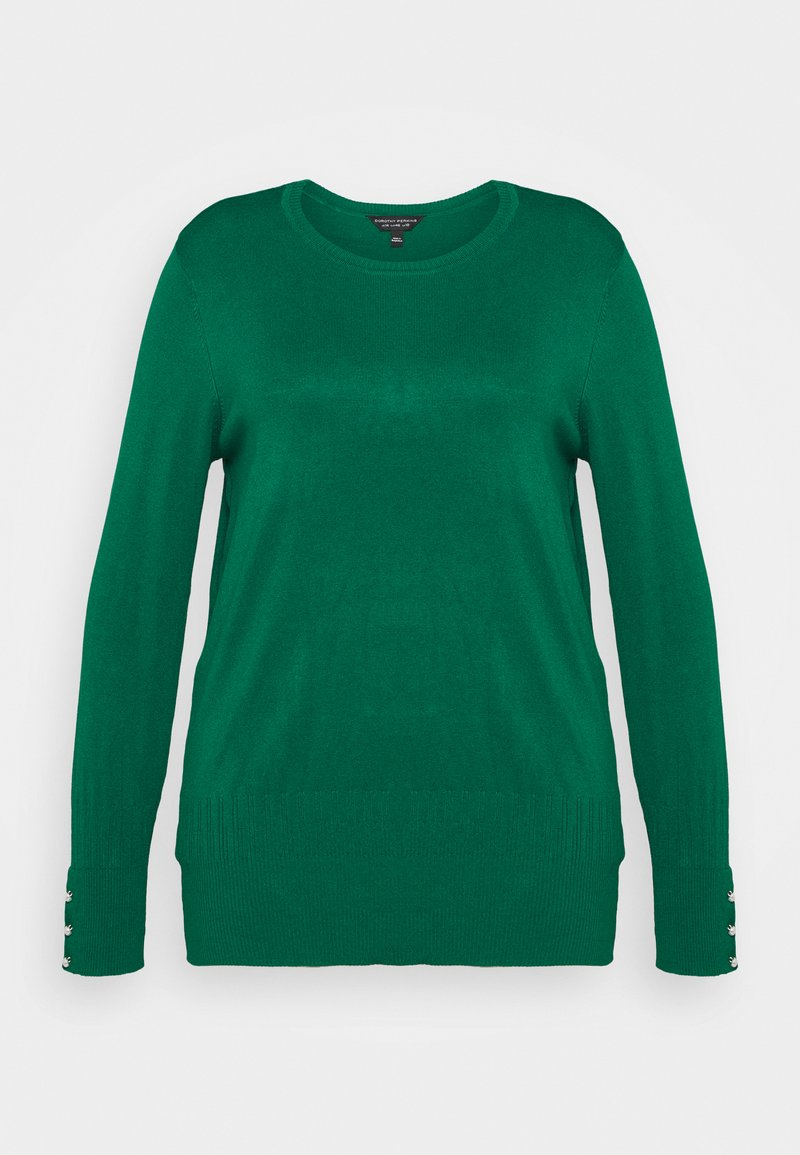 Dorothy Perkins Curve - FOREST CUFF CREW NECK JUMPER - Pullover - green