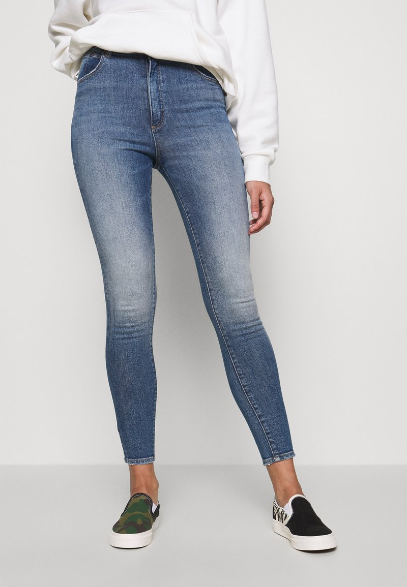 Abrand Jeans - HIGH ANKLE BASHER - Jeans Skinny Fit - stone blue denim