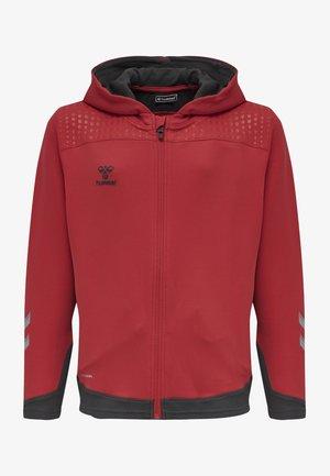Zip-up hoodie - true red