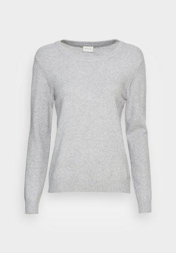 VIRIL O NECK - Jumper - light grey melange