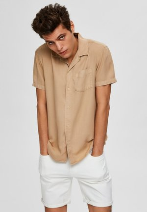 SHORT SLEEVE - Shirt - safari