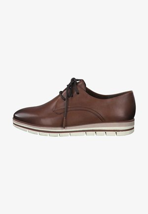 Lace-ups - cognac antic 310