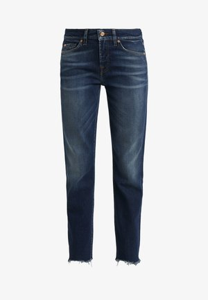 MID RISE ROXANNE CROP EN ROUTE - Jeans straight leg - dark blue