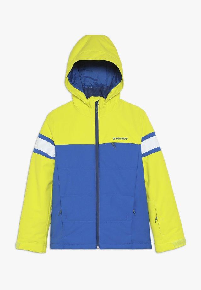 ALIAM JUNIOR - Ski jacket - light green