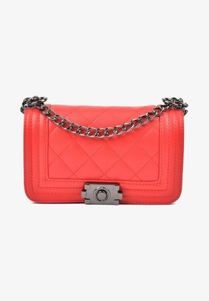 WITH FLAP OVER WITH BUCKLE TWIST CLOSURE - Schoudertas - rosso