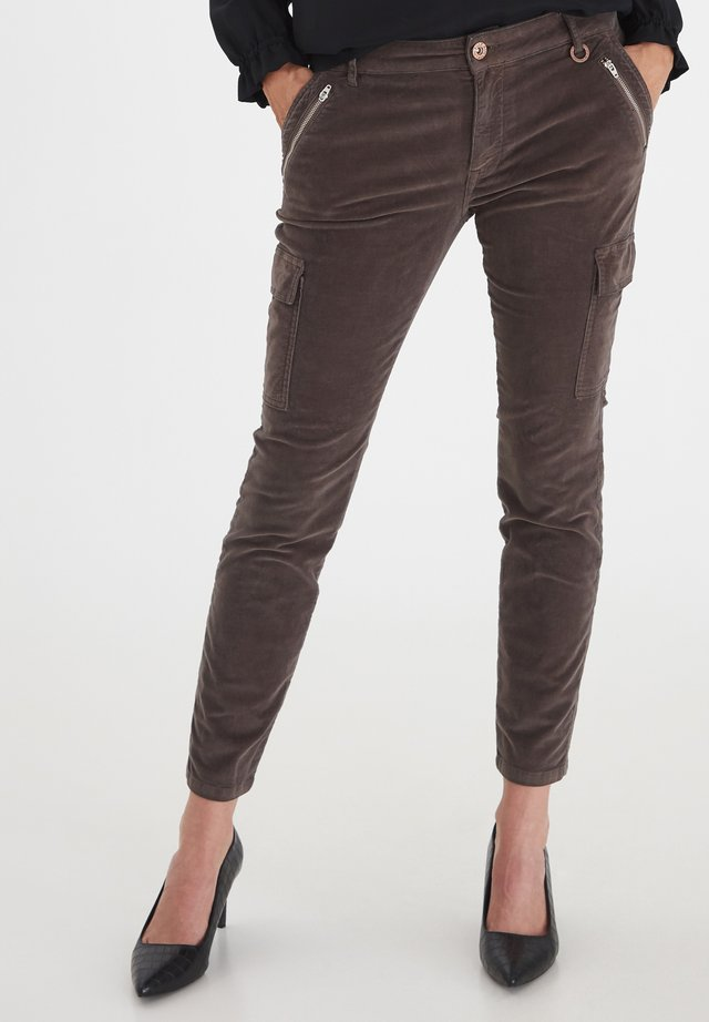 PZELVA - Jeans Skinny Fit - chocolate brown
