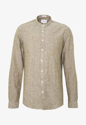 MANDARIN COLLAR SHIRT  - Shirt - army