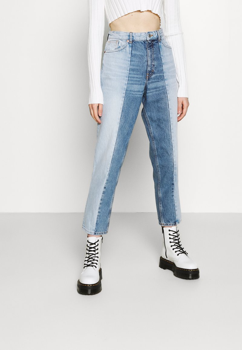 Monki - Straight leg jeans - blue medium dusty