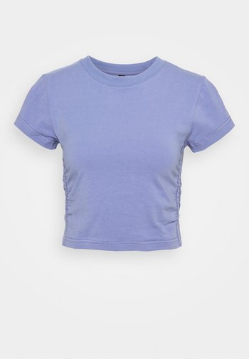 SIDE GATHERED - T-shirts - periwinkle