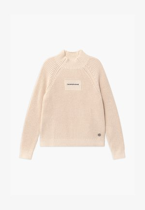 OCO MOCK NECK BOXY - Strickpullover - off-white