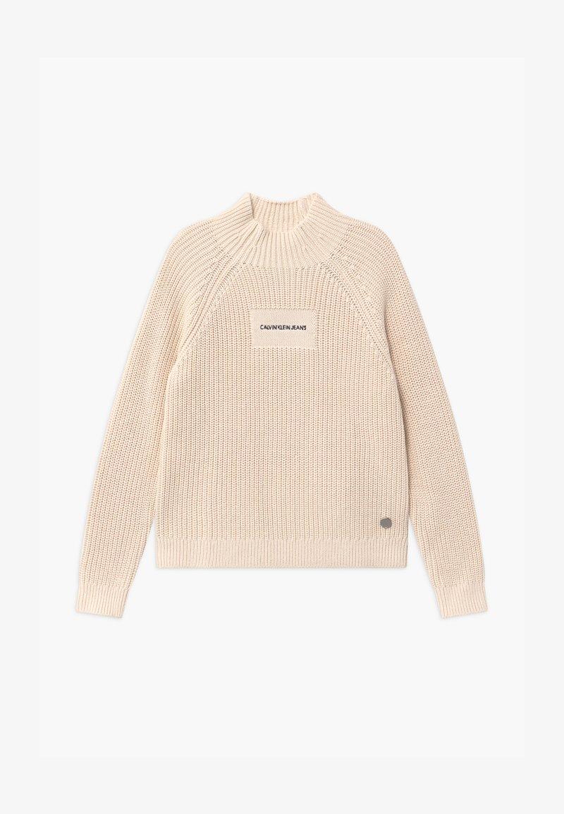 Calvin Klein Jeans - OCO MOCK NECK BOXY - Svetr - off-white