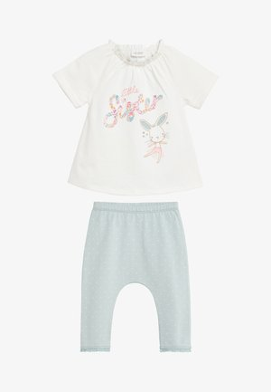 MINT SISTER SLOGAN TOP AND LEGGINGS SET (0MTHS-3YRS) - Leggings - Trousers - off-white