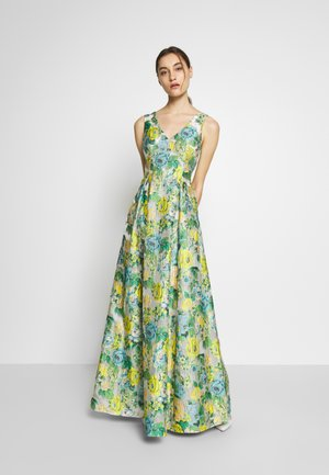 SLEEVELESS GOWN - Iltapuku - green/multi