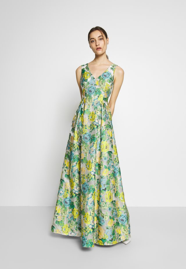 SLEEVELESS GOWN - Robe de cocktail - green/multi
