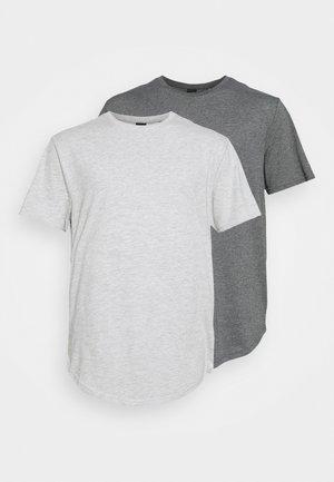 ONSMATT LIFE LONGY TEE 7 PACK - T-shirt - bas - dark grey melange