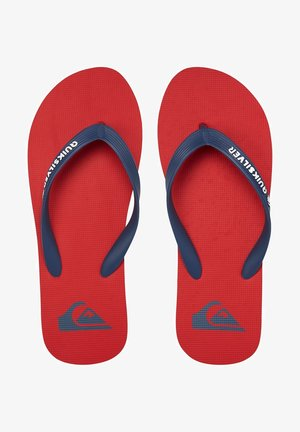 MOLOKAI - Pool shoes - red/blue/red