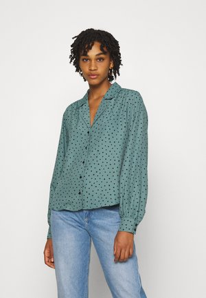 NATALIE BLOUSE - Button-down blouse - green