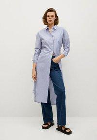 Mango - Shirt dress - azul - 1