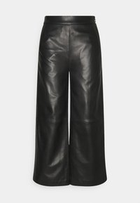 JOY TROUSERS - Kožené kalhoty - black