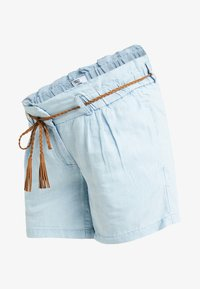 MAMALICIOUS - MLADORA - Shorts - light blue denim - 3