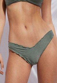 Calzedonia - FORMENTERA - Bikini bottoms - silvered green shine - 0