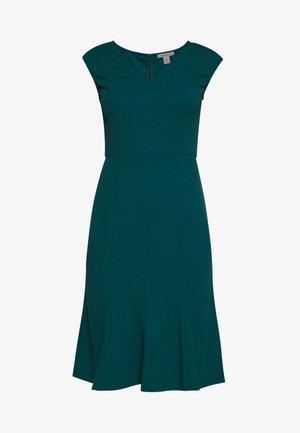 BASIC - V NECK MINI DRESS - Robe en jersey - turquoise