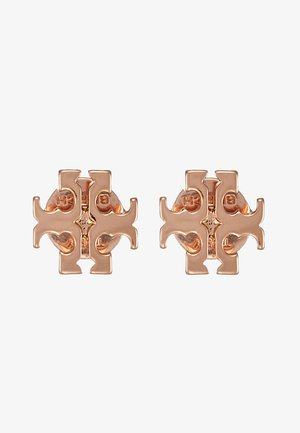 LOGO EARRING - Pendientes - rose gold-coloured