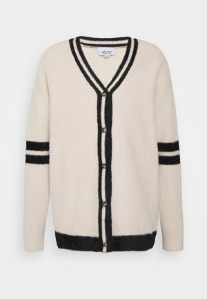 WITH ARM STRIP - Cardigan - cream
