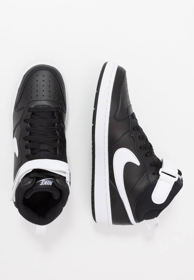 Nike Sportswear - COURT BOROUGH MID UNISEX - High-top trainers - black/white
