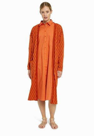 Cardigan - orange print