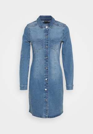 VMGRACE SLIM BUTTON - Denim dress - light blue denim